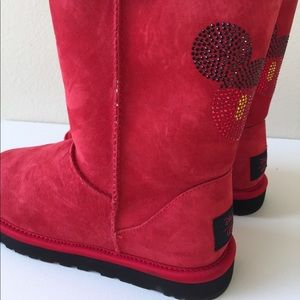 Ugg Red Mickey Mouse Boots